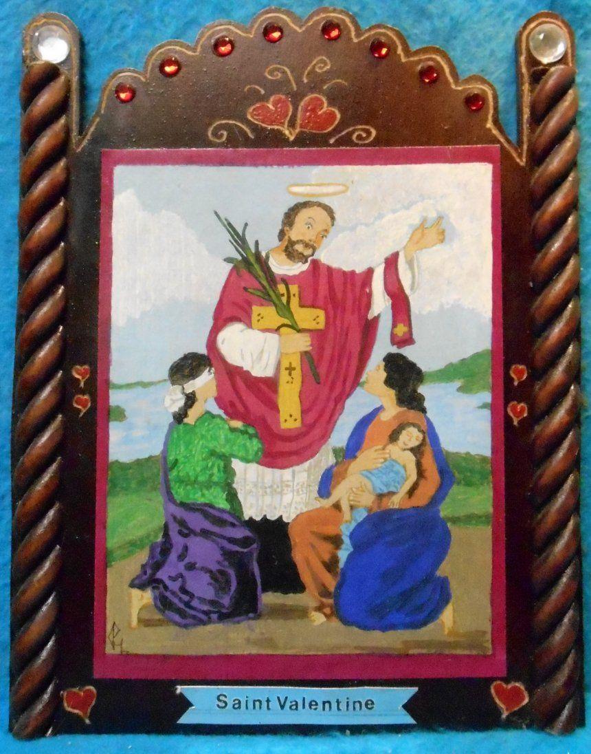 HLBIZNARTZ, Hand Crafted Religious Patron Saint Retablos
