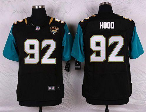 Jacksonville Jaguars  92 Ziggy Hood Black Team Color NFL Nike Elite Men s  Jersey deefdd9c8