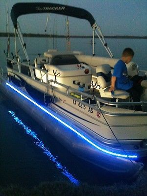 LED Boat LIGHTS ___ 32 Foot KIT Fits Pontoon U0026 Bass Boats Open Bow Etc.  BRIGHT