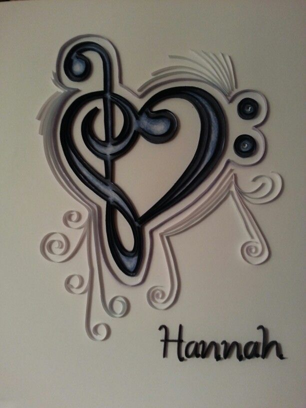 quilled music notes my quilling quilling paper quilling rh pinterest com