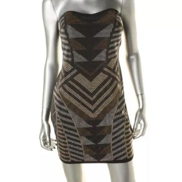 Nwt Jeweled Strapless Dress