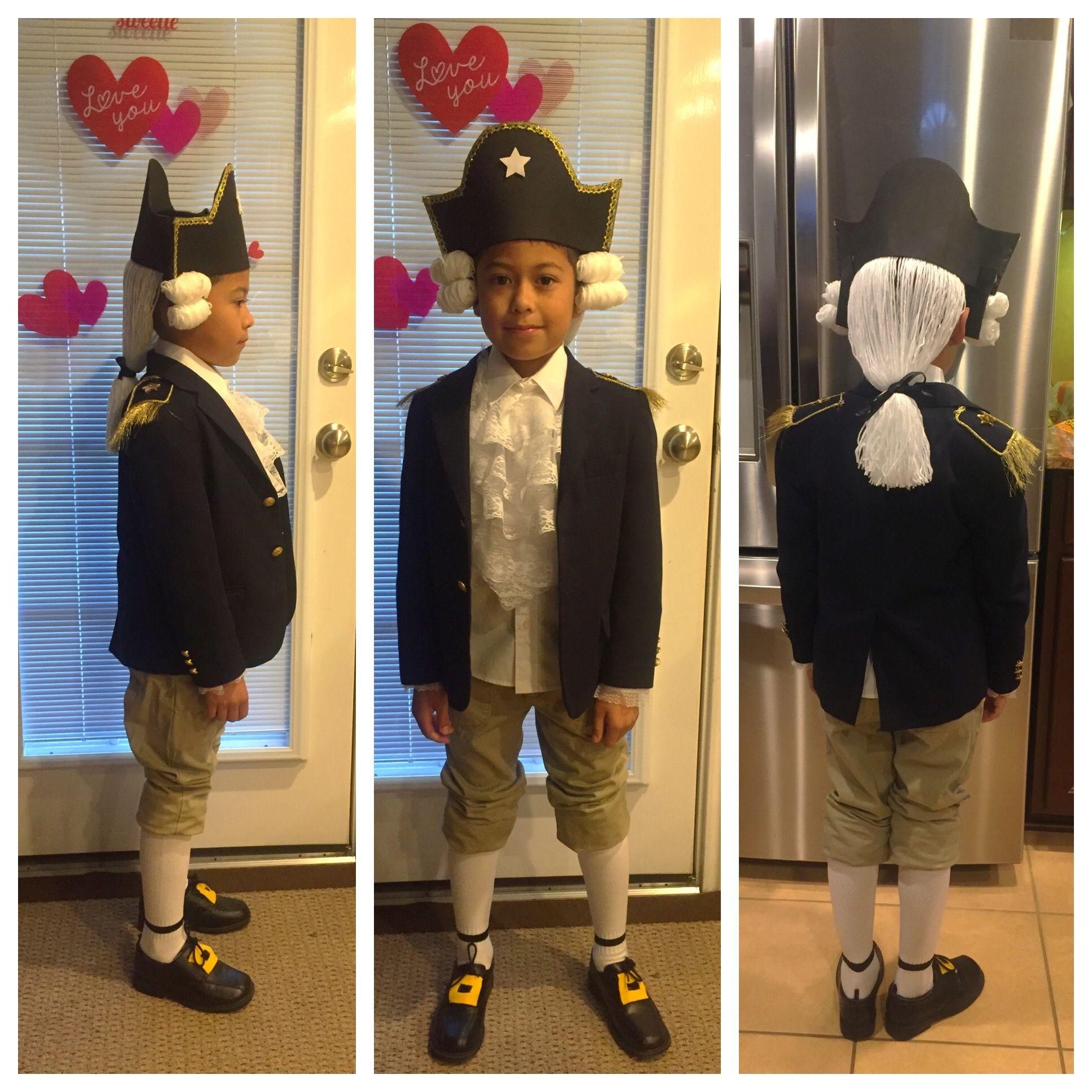 Diy george washington costume mommy diy pinterest george diy george washington costume solutioingenieria Gallery