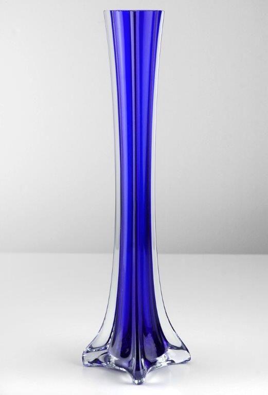 Eiffel Tower Vase 12in Cobalt Blue Aaricka Avalos Dream Wedding