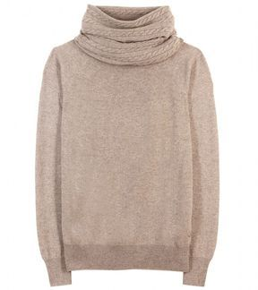 Loro Piana CORINNE CASHMERE PULLOVER WITH OPTIONAL SNOOD on shopstyle.com