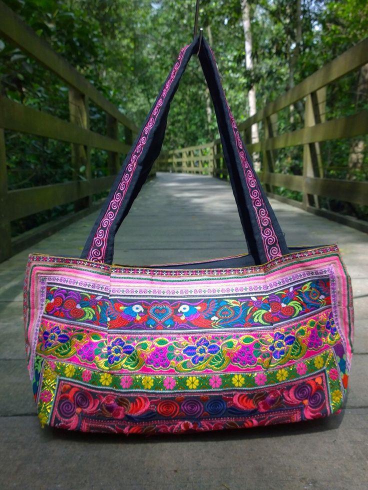 Purple shoulder bag Purple ethnic bag Purple bag Bohemian bucket bag Ethnic bag Purple boho bag