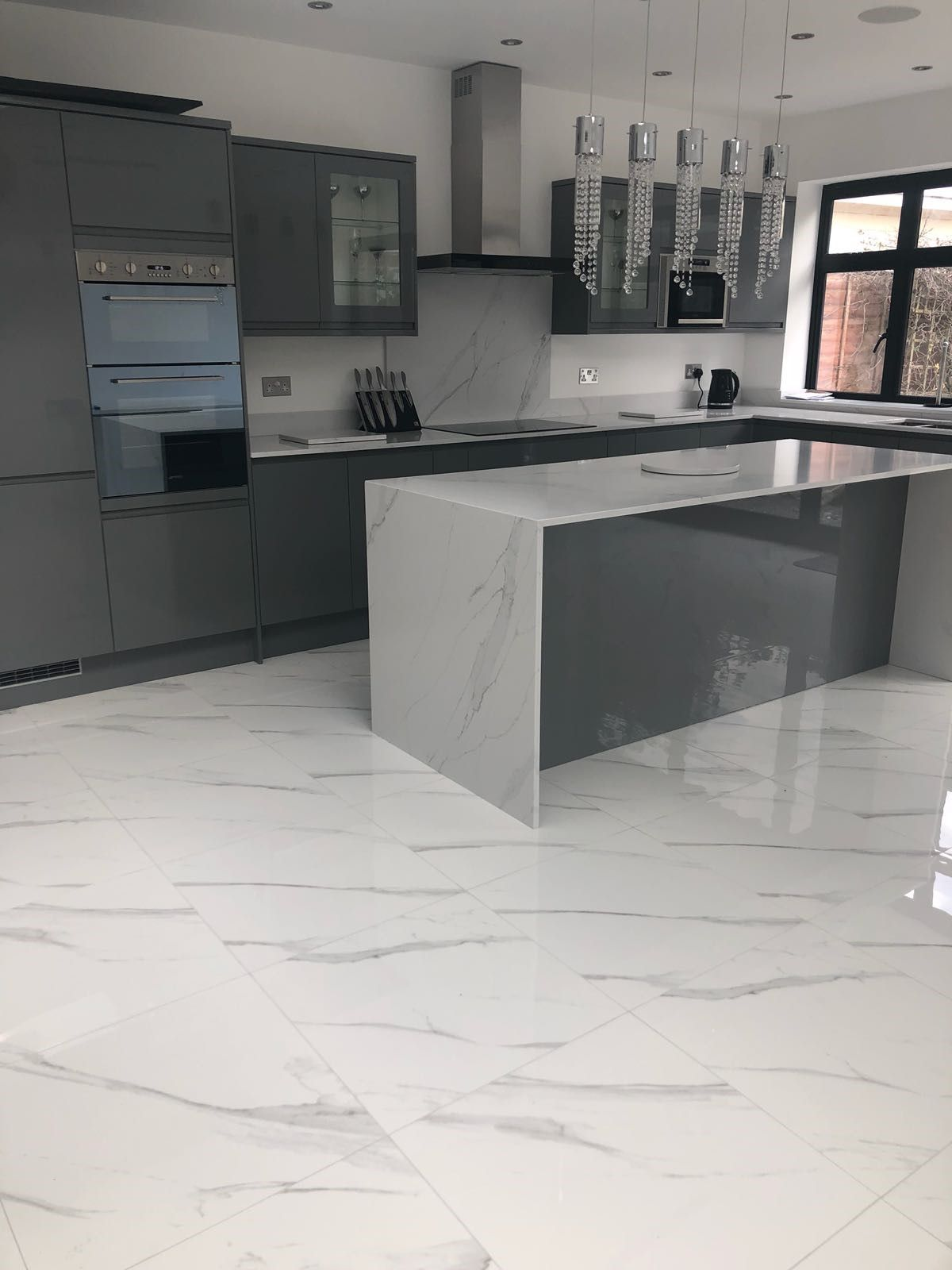 Stunning Compac Surfaces Marble Effect Unique Calacatta Quartz