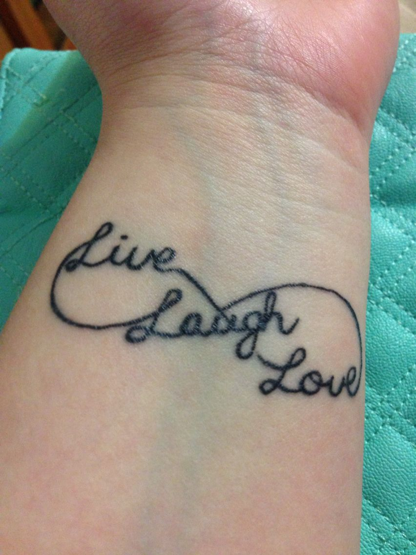 Live Laugh Love Tattoo Basic Tattoos Love Wrist Tattoo Pattern Tattoo