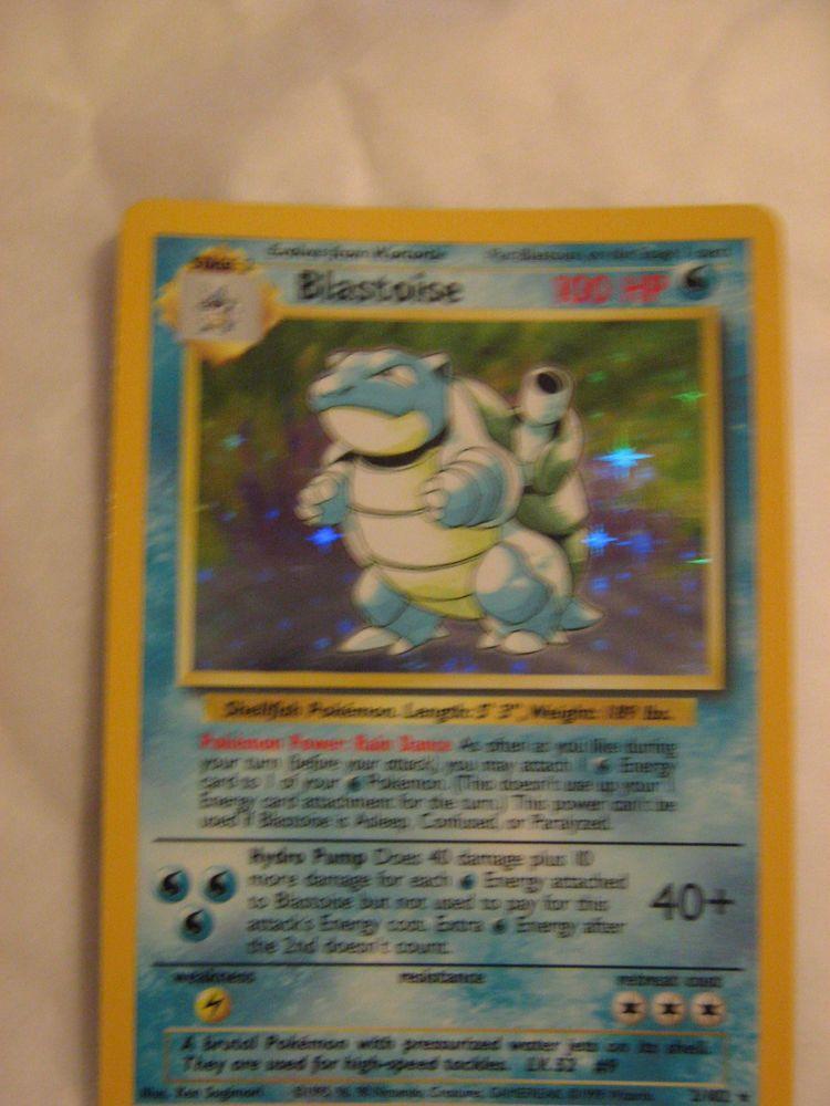 Blastoise 2102 pokemon card base series rare holographic