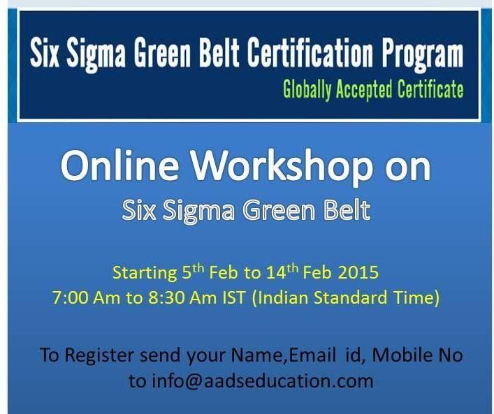 Httpaadseducationsix Sigma Green Belt Certificationpx