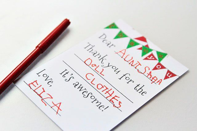 Say Thank You With These Free Printable Christmas Thank You Cards