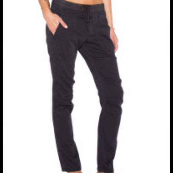 James Perse lounge pants black SZ small Black elastic pull on tie pants James Perse Pants