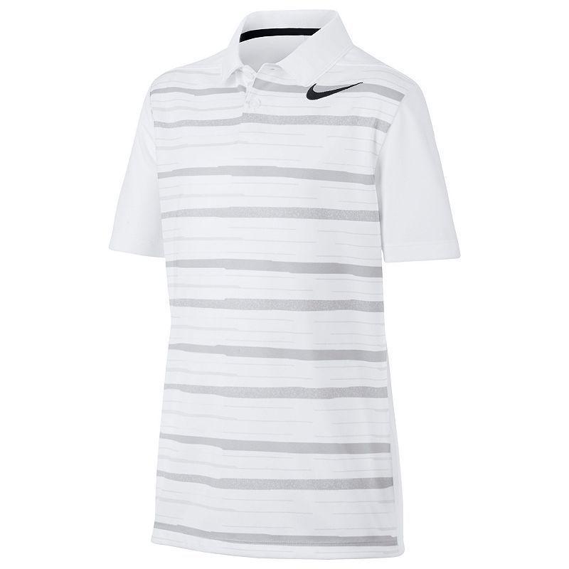 Boys 8-20 Nike Striped Golf Polo, Boy's, Size: Medium, White