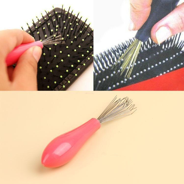 Vendita calda pettine spazzola di capelli pulitore a secco remover plastica embedded pettine cleaner tool HB-007915 trasporto di goccia