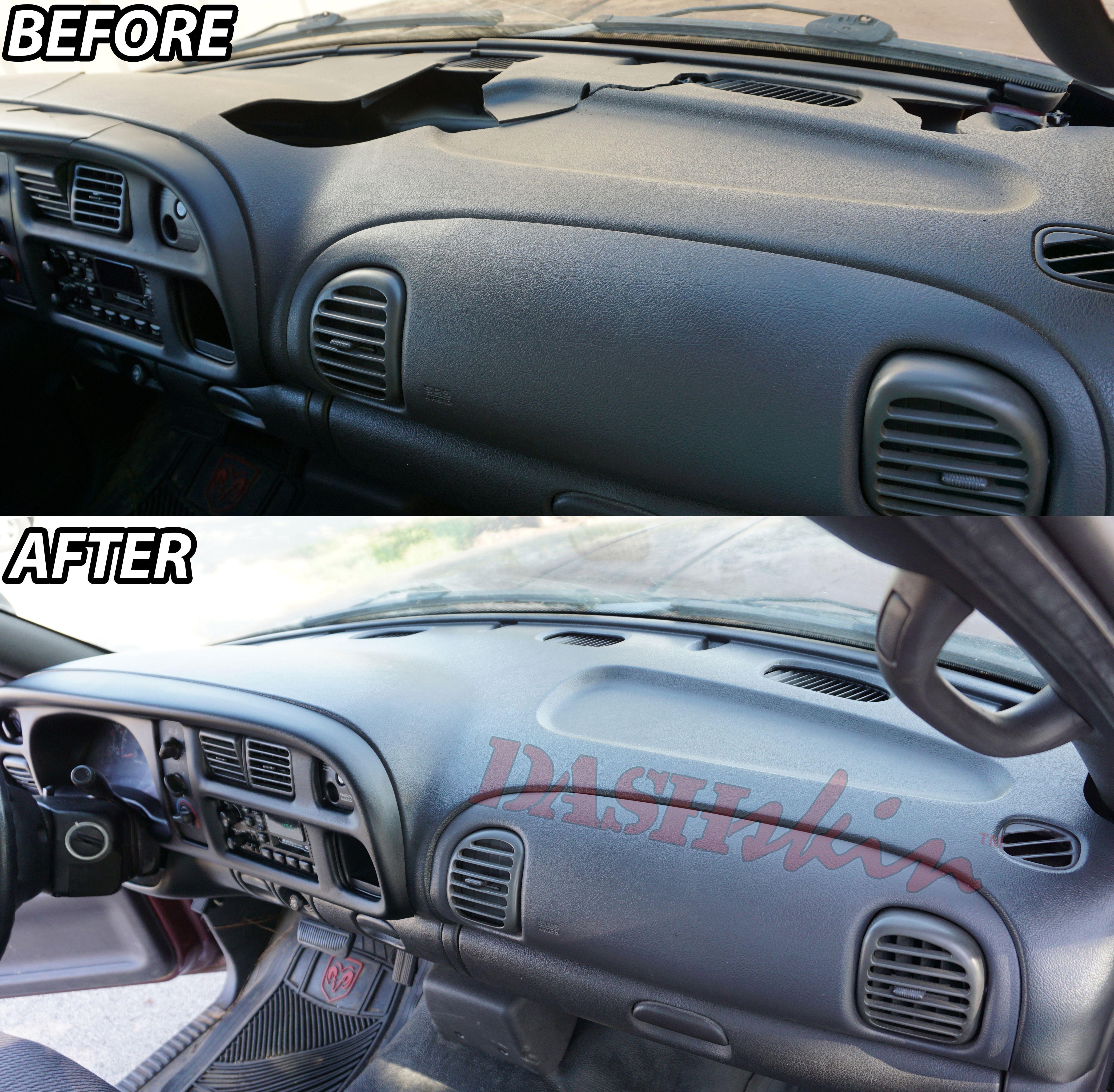 Dashskin Cover Before After 2001 Dodge Ram 1500 Dodge Ram 1500 Dodge Ram