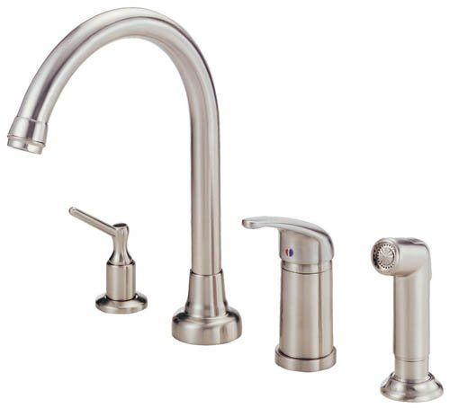 White Kitchen Faucets 4 Hole Check more at https://rapflava.com ...