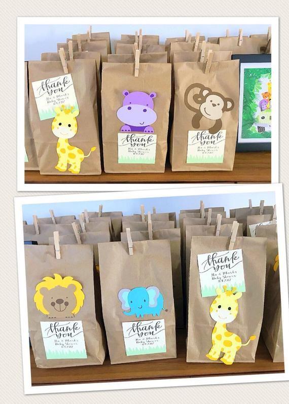 Safari Animal Party Favor Bags, Animal Gift Bags, Zoo