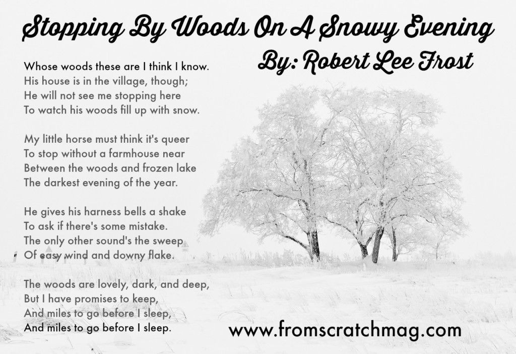 Stopping By Woods On A Snowy Evening Most Famous Poems Famous Poems Writing Inspiration