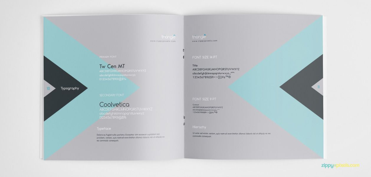 Brand Typography - Clean Brand Guidelines Manual Template Brand - sample user manual template