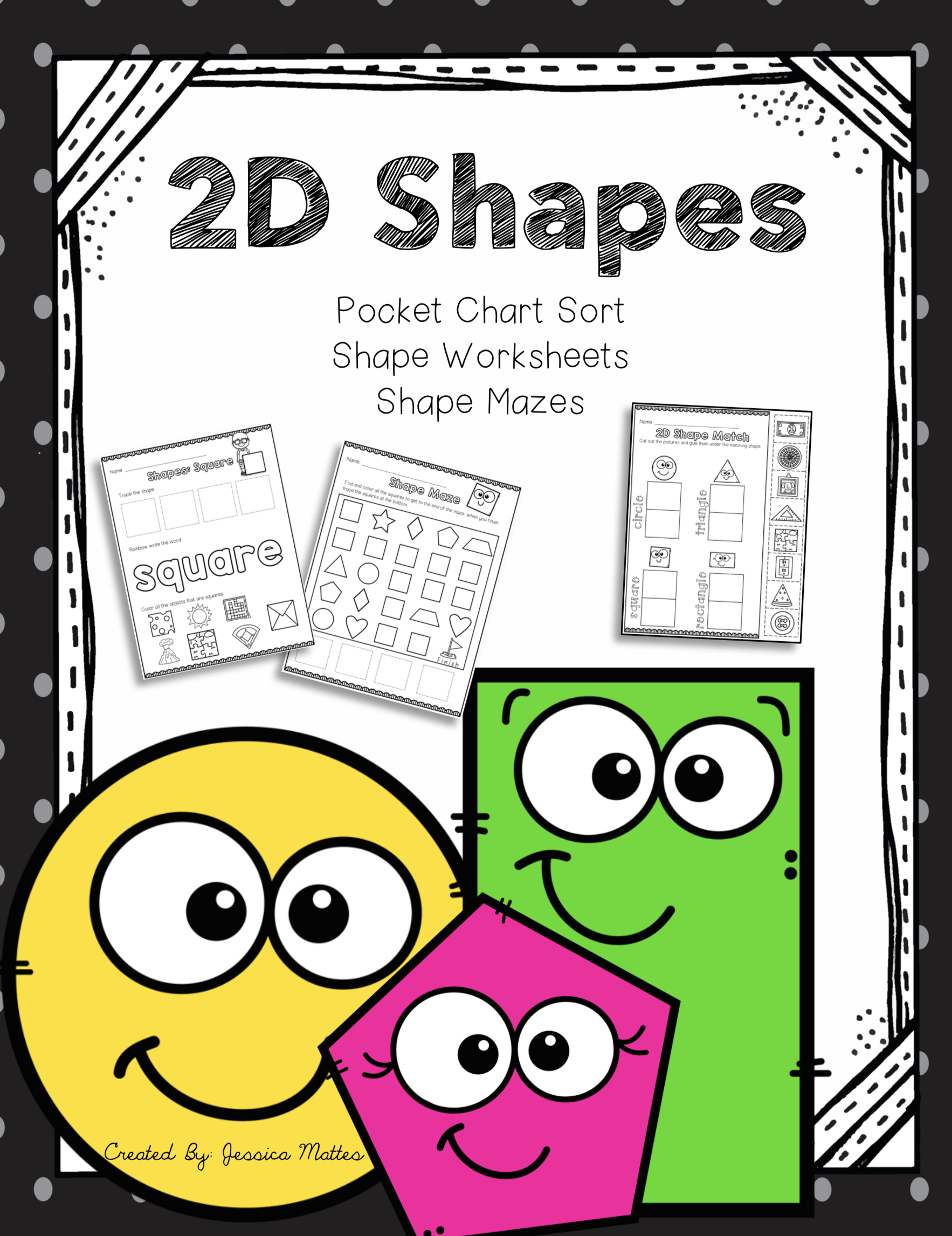 2d Shape Worksheets And Pocket Chart