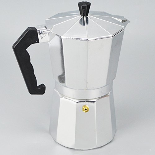 Cup Stove Top Coffee Pot with Cool Handle Flip Top Lid