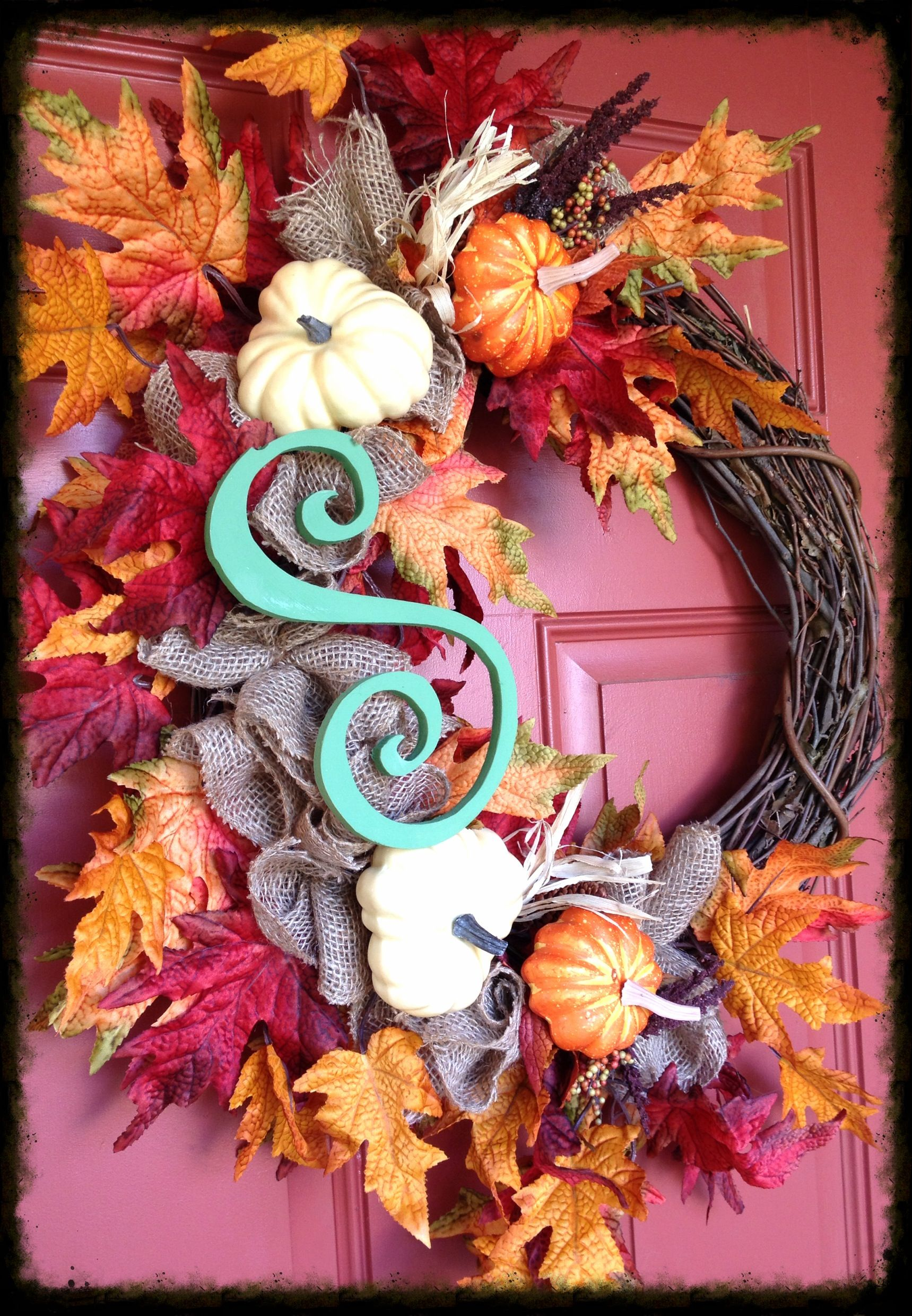 Fall Wreath....designs by Karrie