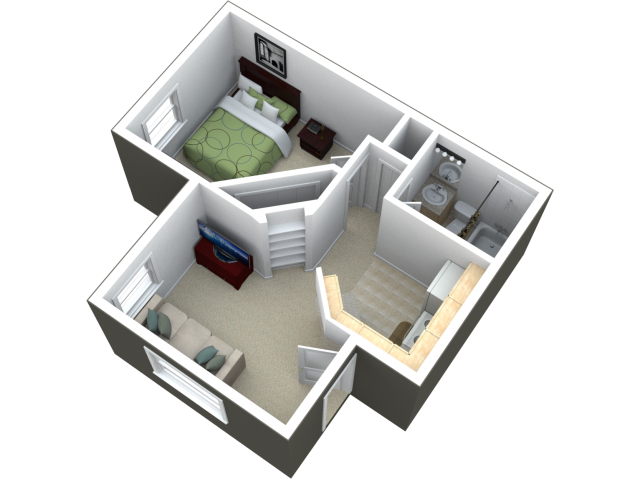 Floor plans for an in law apartment addition on your home for 1br apartment design ideas