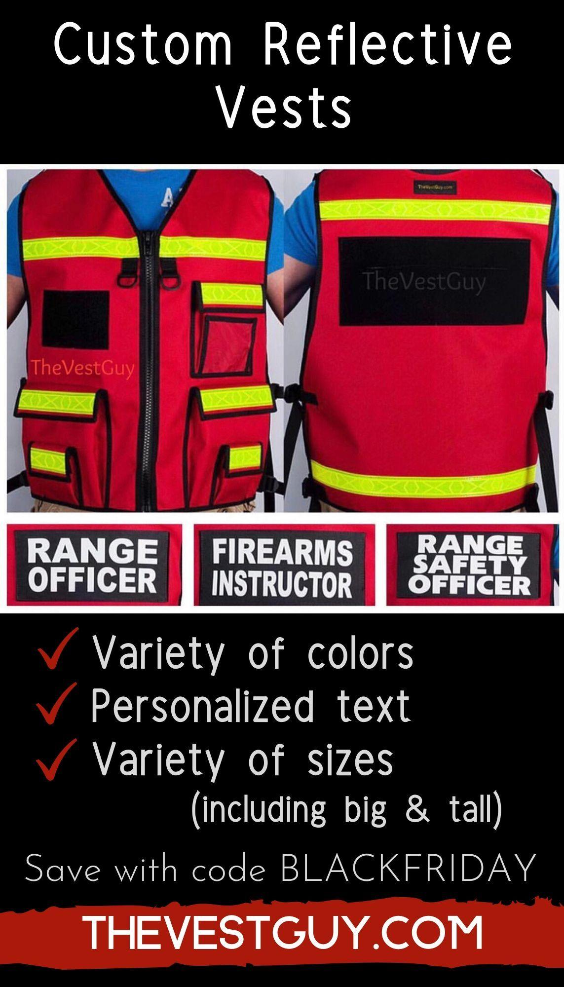 Custom reflective vests for Range Officer, Firearms