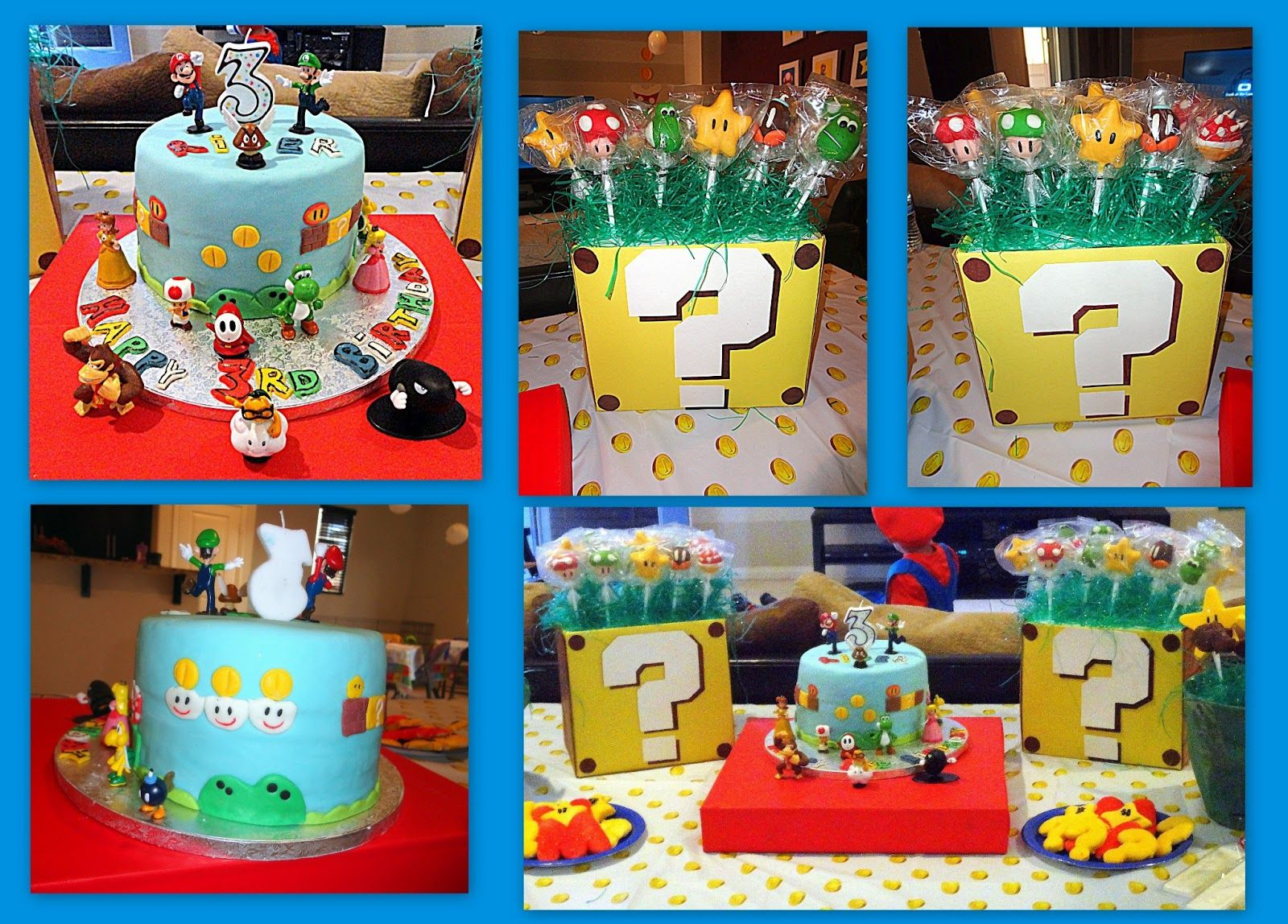 Cake Pops And Cake Inspired By Super Mario Bros Bday Party