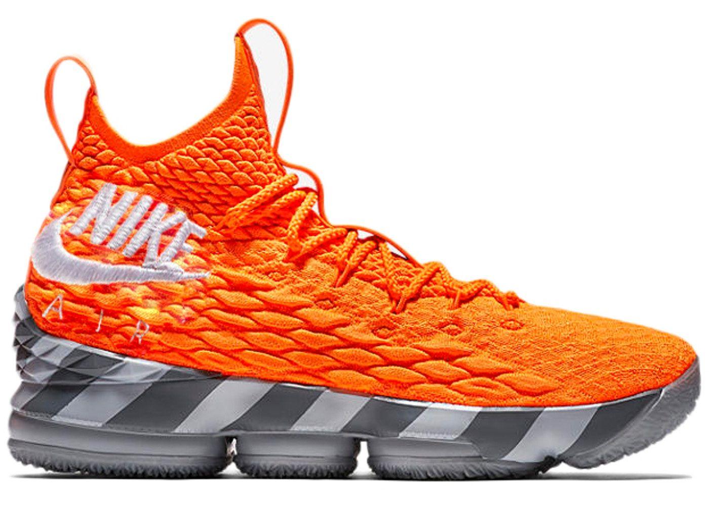 Nike Lebron 15 Orange Box In 2020 Nike Lebron New Basketball Shoes Nike