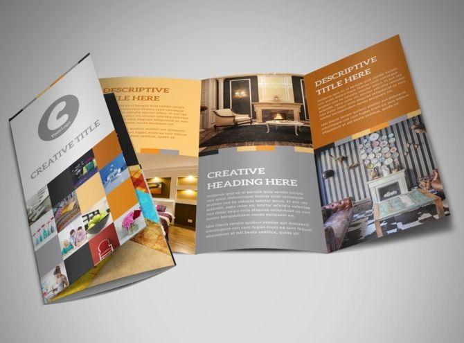 Interior Designer Tri Fold Brochure Template Flyer