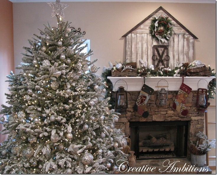 Rustic Christmas Tree Decorating Ideas Rustic Christmas Tree