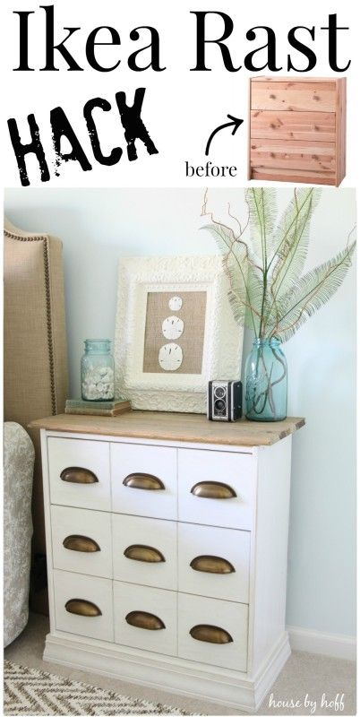 ikea rast hack a new bedside table meubles bricolage et ikea. Black Bedroom Furniture Sets. Home Design Ideas