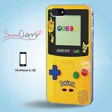 iPhone 5 5S Print Case Cover Cartoon Collection Pokemon Yellow Gameboy C5019