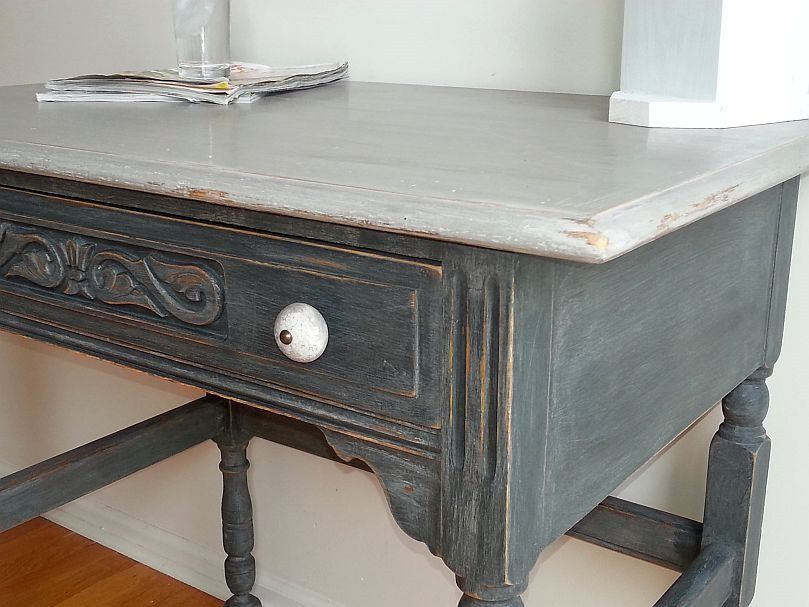 Attractive Desk Hand Painted By One Of Our Students At Our Shizzle Style Furniture  Painting Workshop Taught