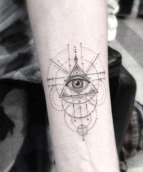 Geometric Wrist Tattoo: Geometrik Göz Bilek Dövmeleri Eye Geometric Wrist Tattoos