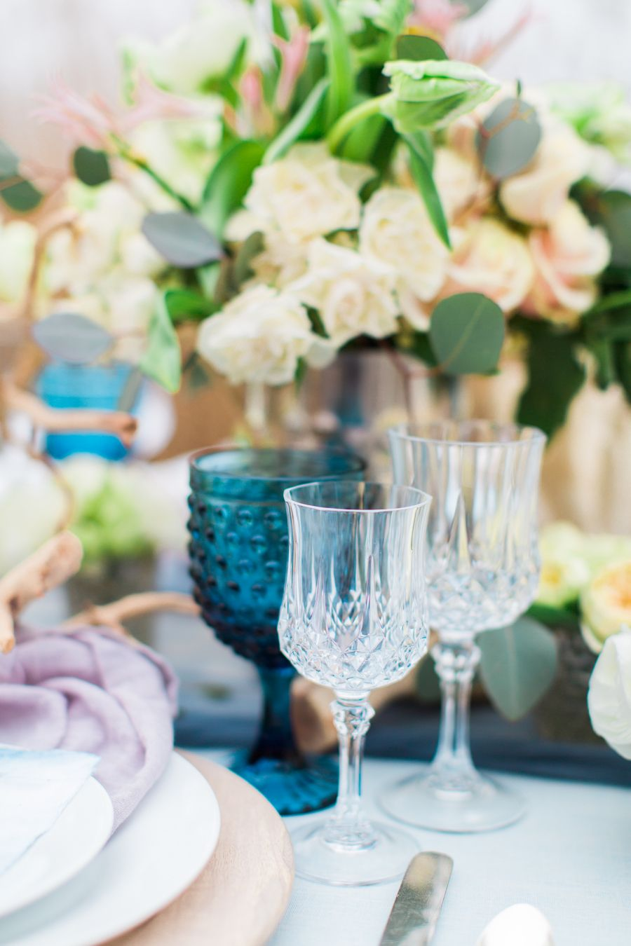 Textured and colored glassware -ABF