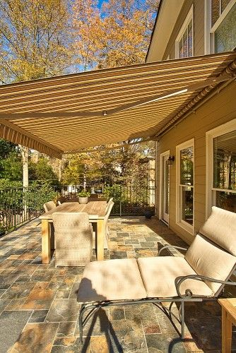 Retractable Awning Design Ideas Pictures Remodel And Decor Outdoor Awnings Patio Shade Retractable Awning
