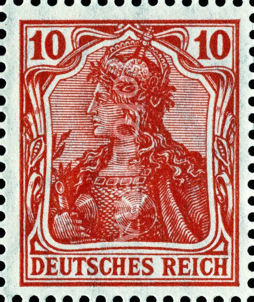 Germany 10 pf postage stamp. (1913) depicting mythical