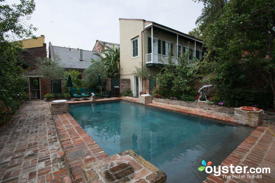 Pool at the Audubon Cottages Haunted hotel, Audubon