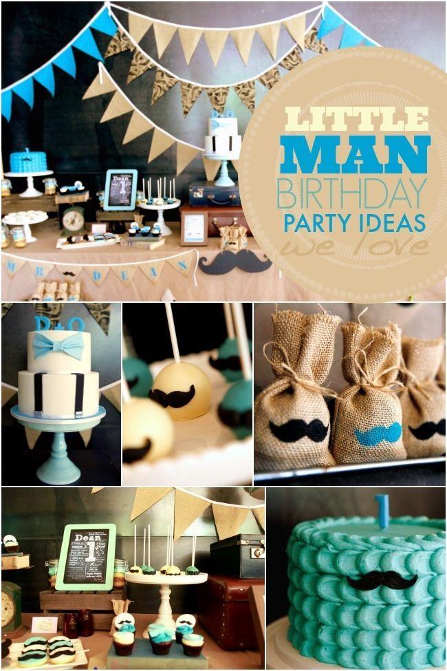 A Little Gentleman First Birthday Party Little Man Birthday
