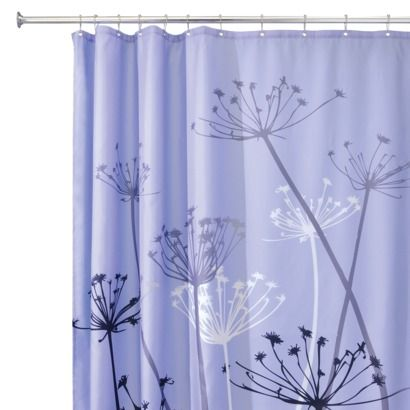 Interdesign Thistle Shower Curtainn Purple Gray 72x72 With