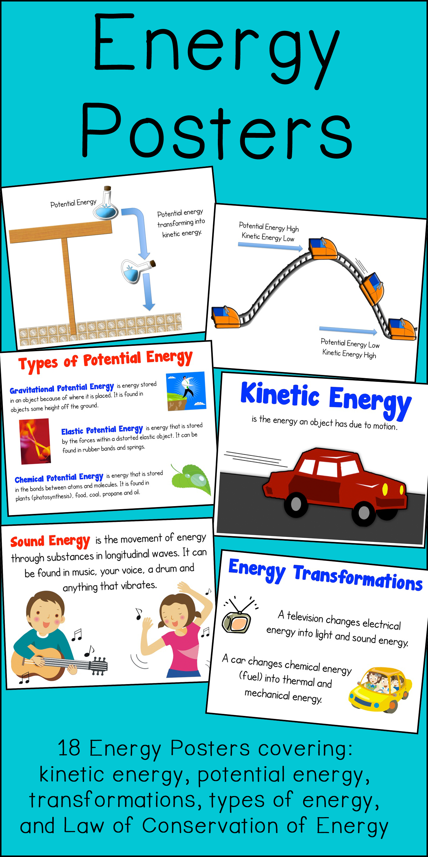 Energy Poster And Interactive Notebook Inb Set