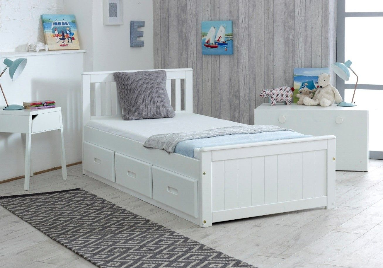 Amani Uk Mission Storage Bed In White In 2020 Single Beds With Storage Bed Frame With Storage Bed Storage