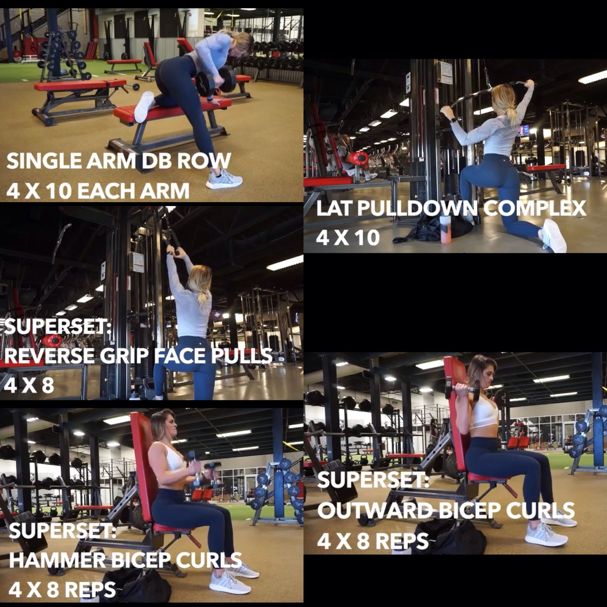 Back And Biceps Whitney Simmons Workouts Whitney