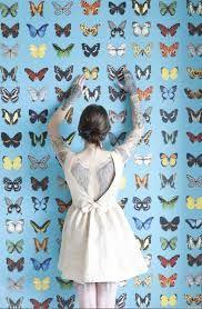 Onszelf Fabulous #behang #blauw #blue #wallpaper butterfly