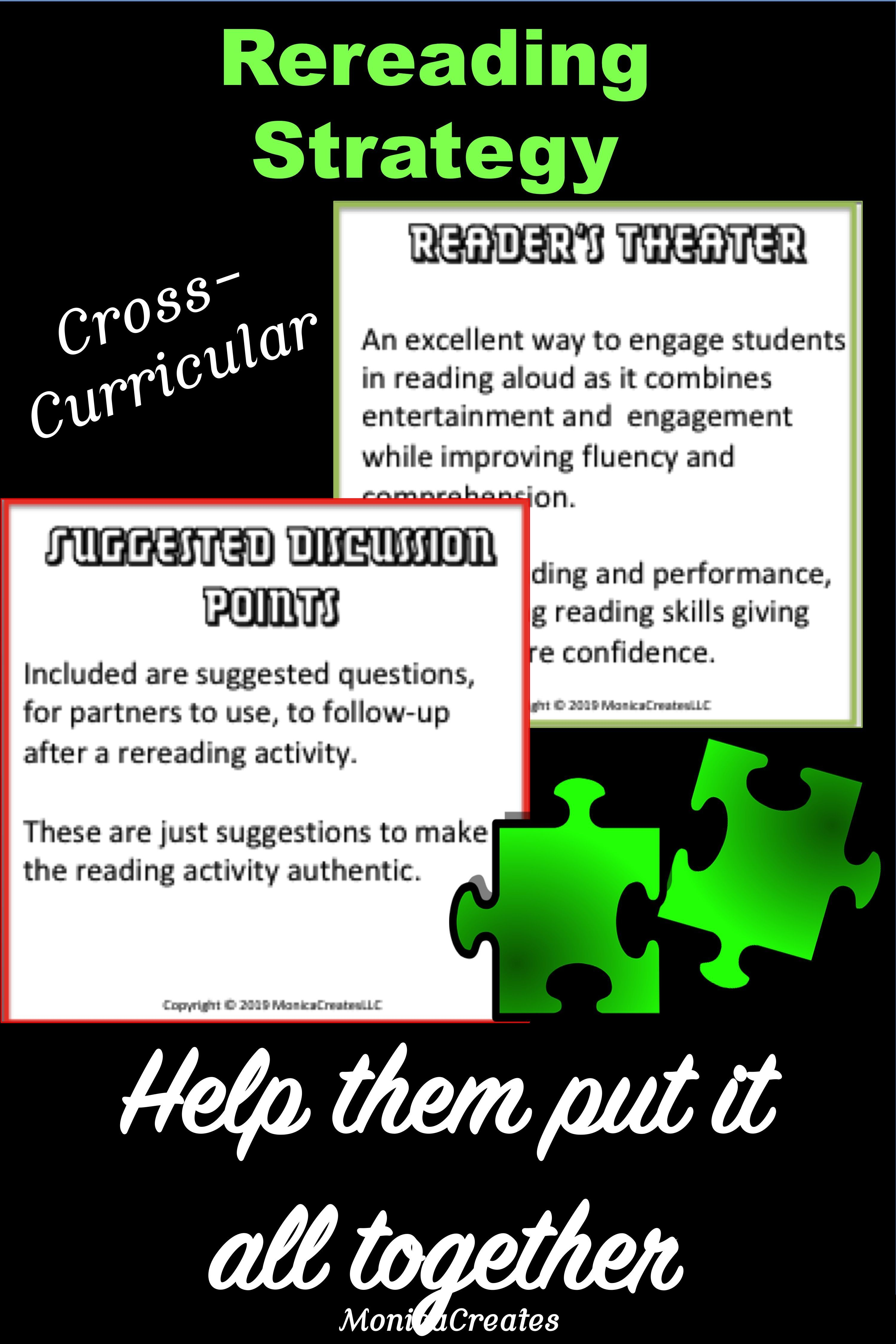 Rereading Teacher Task Cards Cross Curricular