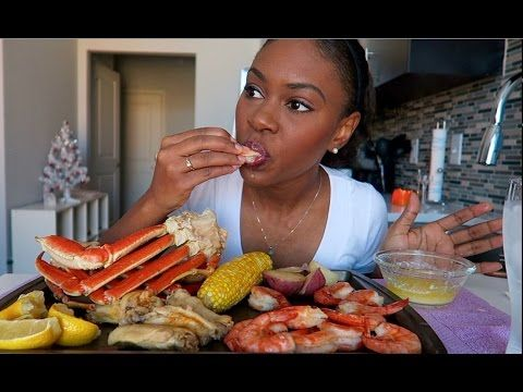 Seafood Boil Mukbang Eating Show Youtube Mukbang Pinterest