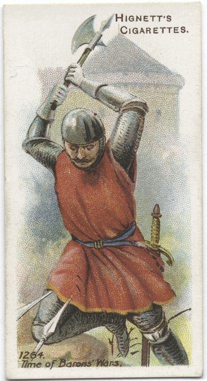 Arms & Armour - 16 - A soldier with a battle-axe - 1264. Time of Barons' War.
