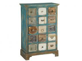 Mueble con 15 cajones vintage