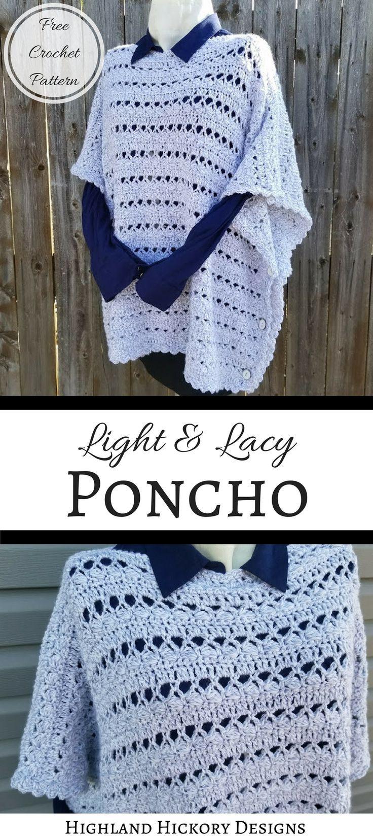 Seasonal Wardrobe: Crochet The Light & Lacy Poncho To Add To Your Seasonal